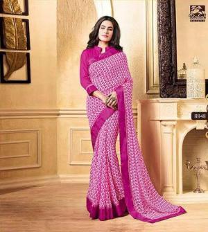 Pink Designer Georgette Saree For Women