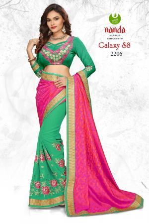 Designer Saree with Embroidery Work Georgette DN2206