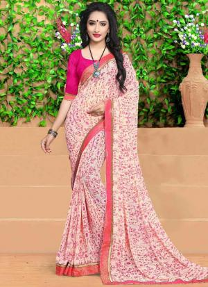 Digital Printed Multi Colour Georgette Casual Saree With Blouse Piece DN9139