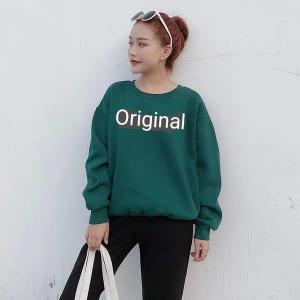 New long sleeved ORIGINAL Printed Sweatshirt Pullover-Green