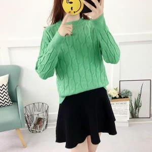 Women Casual Twisted Sweater and Pullover - Mint Green