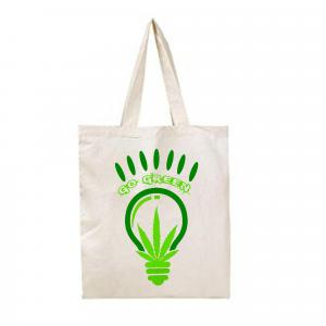 HANDMADE GO GREEN TOTE BAG