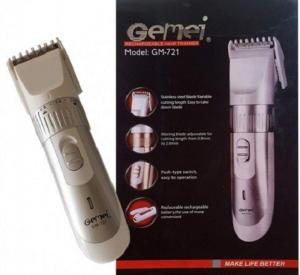 Gemei GM-721 Rechargeable Hair & Beard Trimmer