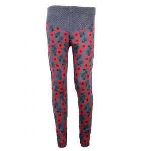 Floral Printed Woolen Tights For Women