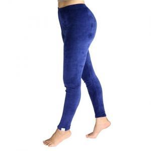 Navy Blue Soft Velvet Sweatpants