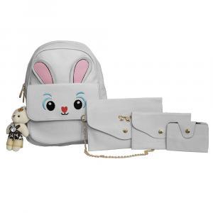 4 In 1 Bunny Designed Backpack For Women