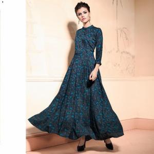 Blue Color Party Wear Kurti for Women