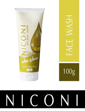 Niconi AHA Glow Face wash with Alpha Hydroxy Acids for Natural Exfoliation - 100gm