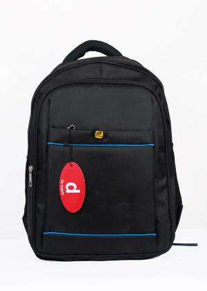 2289 Black/Blue Single Compartment Backpack With Laptop Space ( 1 Year Warranty)