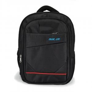 2266 Black Single Compartment Backpack With Laptop Space