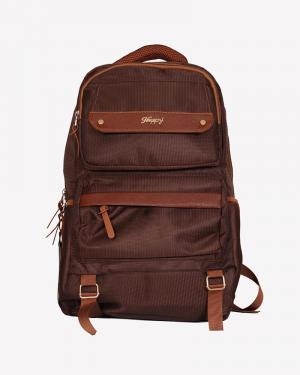 6004 Dark Brown Dual Compartment Backpack With Laptop Space ( 1 Year Warranty)