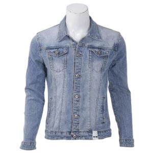 Spring Men Casual Denim Light Blue Jacket Classic Style Fashion Jean Jacket By Bajrang