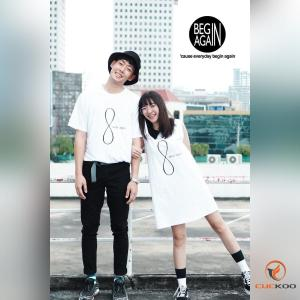 Begin Again White Infinity Love Couple Dresses T-shirt And One Piece CBA-053
