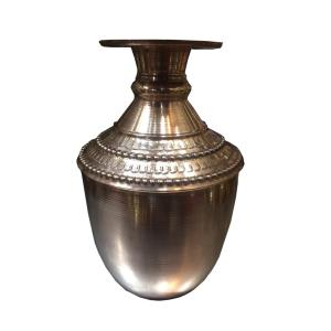 Copper water Gagri with 17.5 inch height and 2.25 inch Height