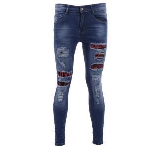 Blue Denim Jeans Grunge Pant For Men
