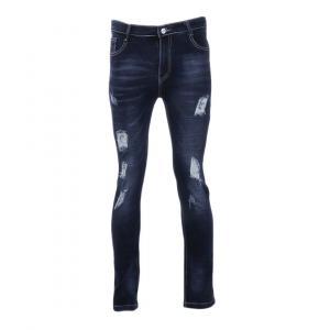 Fashion Streetwear Men Jeans Vintage Skinny Destroyed Ripped Jeans Broken Punk Pants By Bajrang