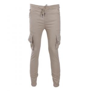 Men's Summer Casual Sport Pants Men Cream Colour With Box Pocket Elastic Pants Small Feet Joggers Pants Drawstring Beam Pants Versatile Trousers By Bajrang