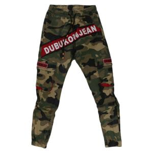 Army Green/Red Camouflage Printed Joggers For Men