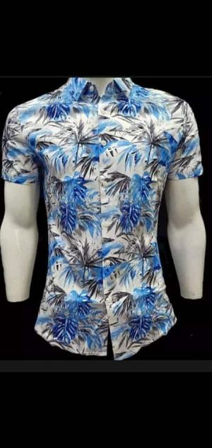 Multicolor Cotton Printed Casual Shirt For Men