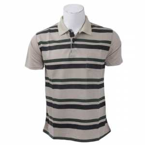 Summer Short-Sleeve Striped Polo Men T-shirt