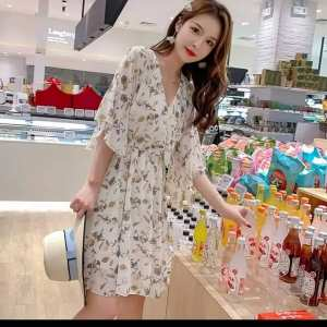 Printed chiffon onepiece for women