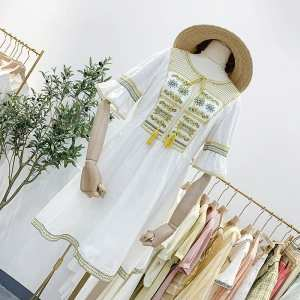 White embroidered onepiece for women