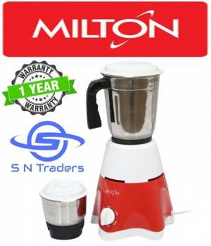 Milton 2 Jar Star Mixer Grinder 400W - (White\Red