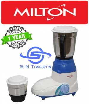 Milton 2 Jar Mixer Grinder 400W - (White\Blue)