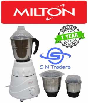 Milton 3 Jar star Mixer Grinder  - (White)
