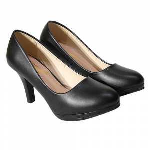 Black Pump Heel Shoes For Women(N02)