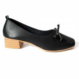 Black Bow Designed Closed Shoes For Women(D79)