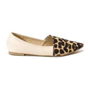 Animal Printed Pointed Flat Close Shoe 96622-39