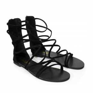 Back Zippered Gladiator Sandals For Women - 60566