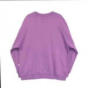Summer Long Sleeve Sweatshirt For Women  (Purple)