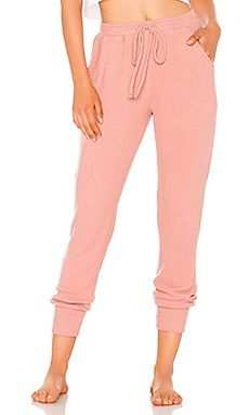 Women's Cotton/Nylon Track Pant   (Peach/Pink)