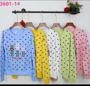 Polka Dots Printed Colorful Sweatshirt for Women
