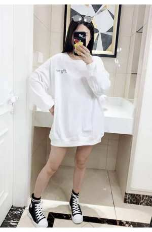 Beautiful Plain Korean Designed Long Sweater  For Women