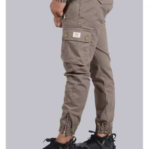 Multi-Pocket Zipper Designed Cargo Joggers