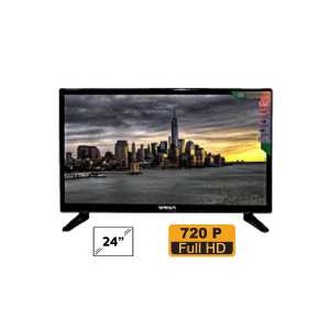 Wega 24 Inch DLED TV Double Glass - (Black)