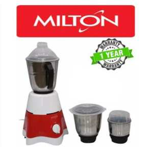 Milton 3 Jar Star Mixer Grinder 600W - (White\Red)