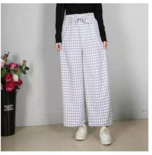 Gingham Slef Belted Plaid Pants/Plazo