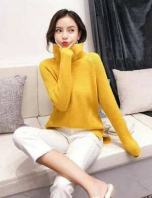 Thick And Super Softness High Low Slit Sweater