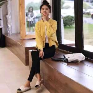Full sleeve Yellow Outer/ Jacket  for women