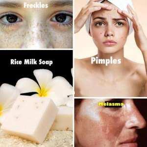 Original Rice Milk Soap Handmade Whitening Collagen Natural Skin Lightening Soap Body And Face Acne