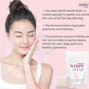 Snail White Whipp Bar Soap With Delicate Net for Softening Whip Foam - 100g