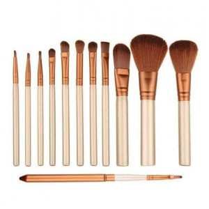 Professional Foundation and Makeup Brush Set of 12 With Storage box
