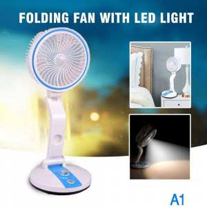 Folding Mini USB Charging Fan Desk lamp Personal Cooling Fan Led Light Home Office Travel Mood Lights