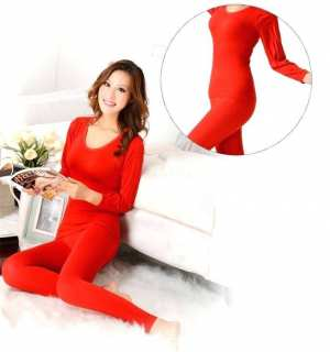 Pure Cotton Thermal Underwear For women Long Johns Set Ultra-Soft Base Layer