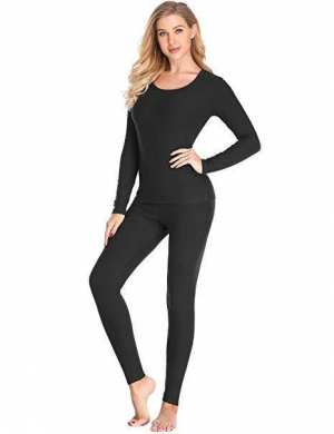 Thermal Underwear for Women Cotton Long Johns Set Ultra-Soft Base Layer