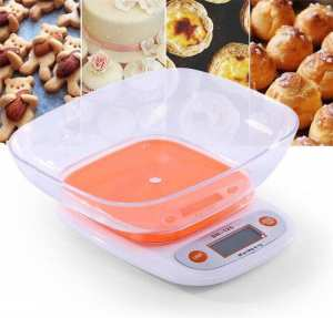 Khopo 5kg/1g Electronic Kitchen Scale Digital Food Scale Plastic Weighing Scale LCD High Precision Measuring Tools
